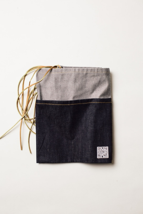 1791 SUPPLY & CO. SELVAGE DENIM APRON, THE VINTAGE ROUND TOP
