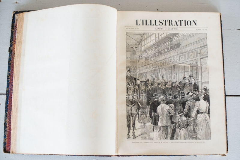 L'ILLUSTRATION 1891 FRENCH BOOK, THE VINTAGE ROUND TOP