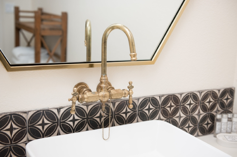 Forrest Middelton - We found Forrest Middelton's gorgeous handmade tiles through Clé Tile and love the cool vibe they add to the additional bathroom in the Boho Cottage.