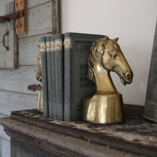 vintage brass bookends - $72