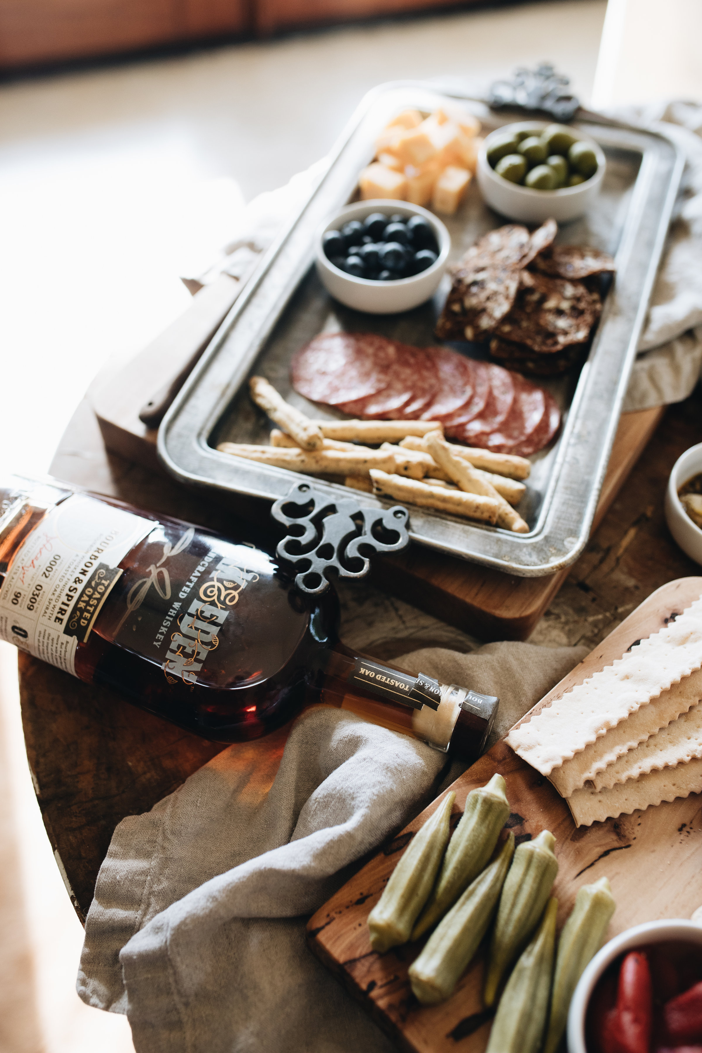Oak & Eden Whiskey and Charcuterie Board at The Vintage Round Top
