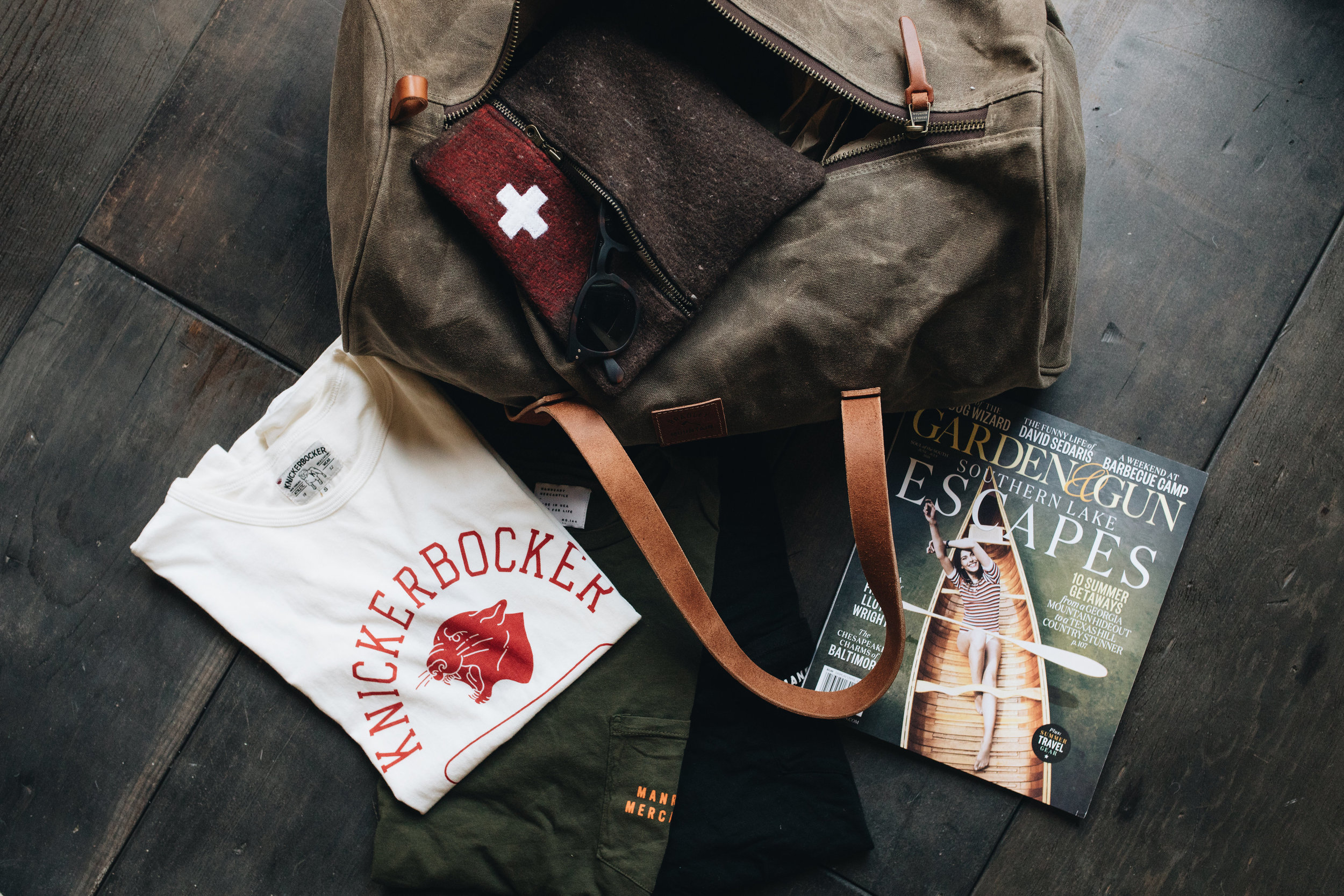 Swiss Army Pouch - The Vintage Round Top | $46