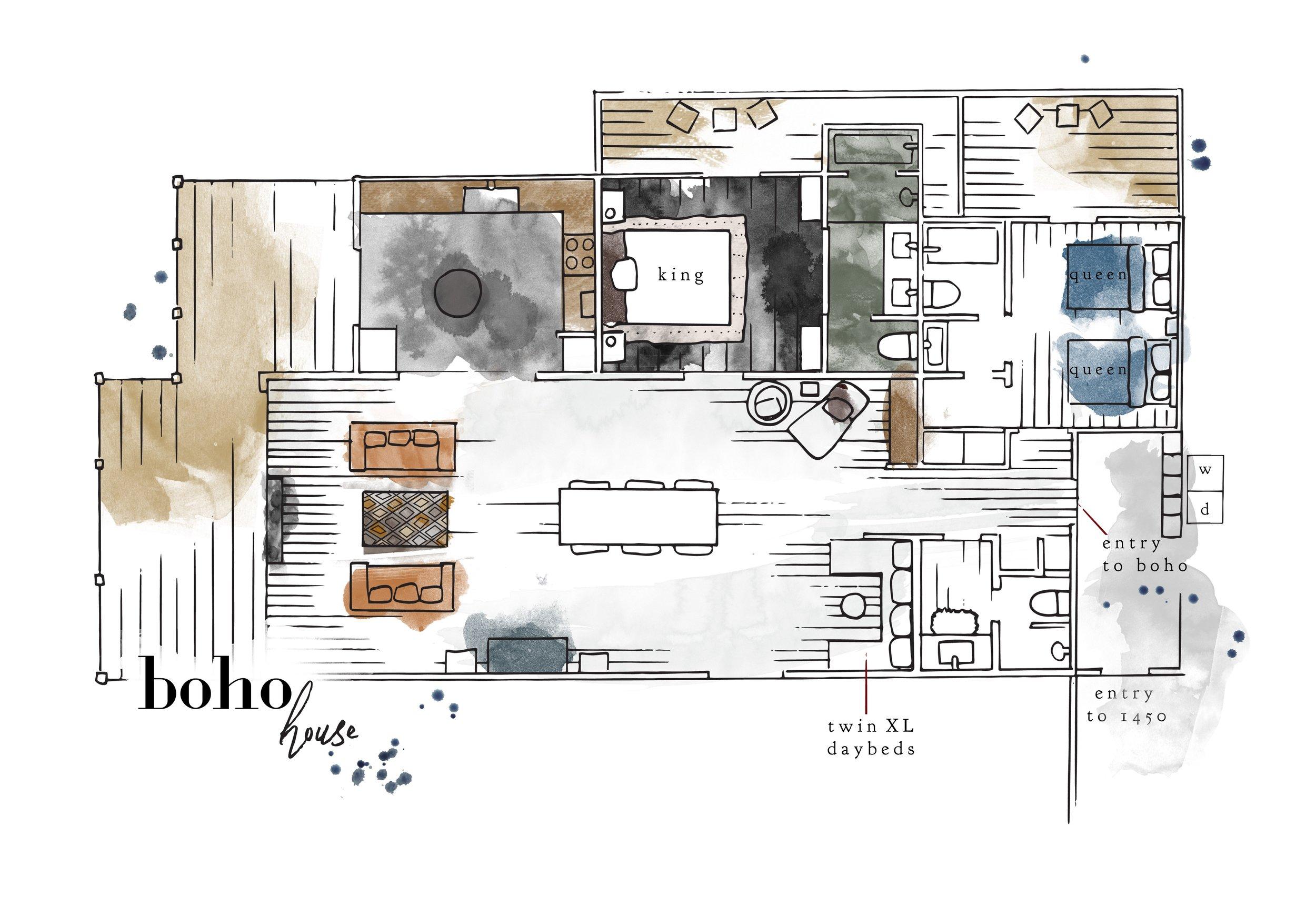 Boho floor plan