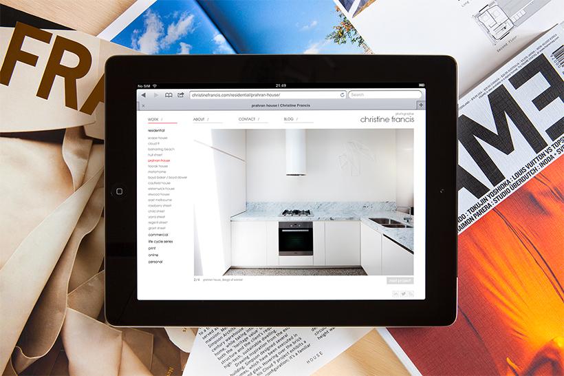 Christine Francis Website iPad
