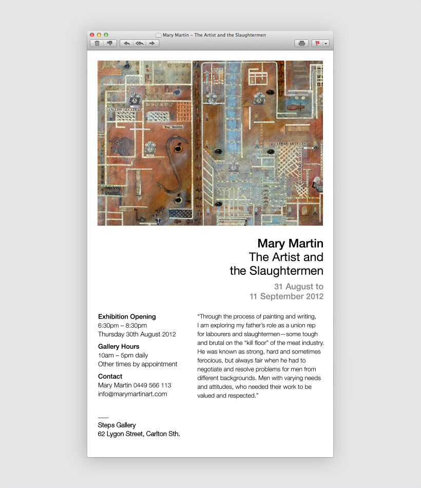 Mary Martin Electronic Direct Mail Invite