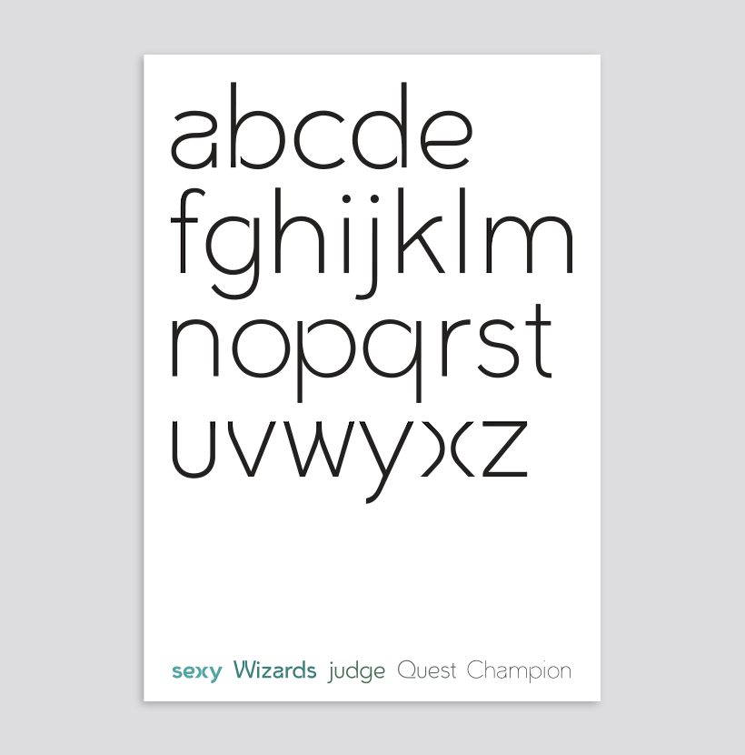 WB Griffen Typeface Light Weight