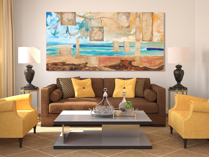 secret spot surf art on living room.jpg