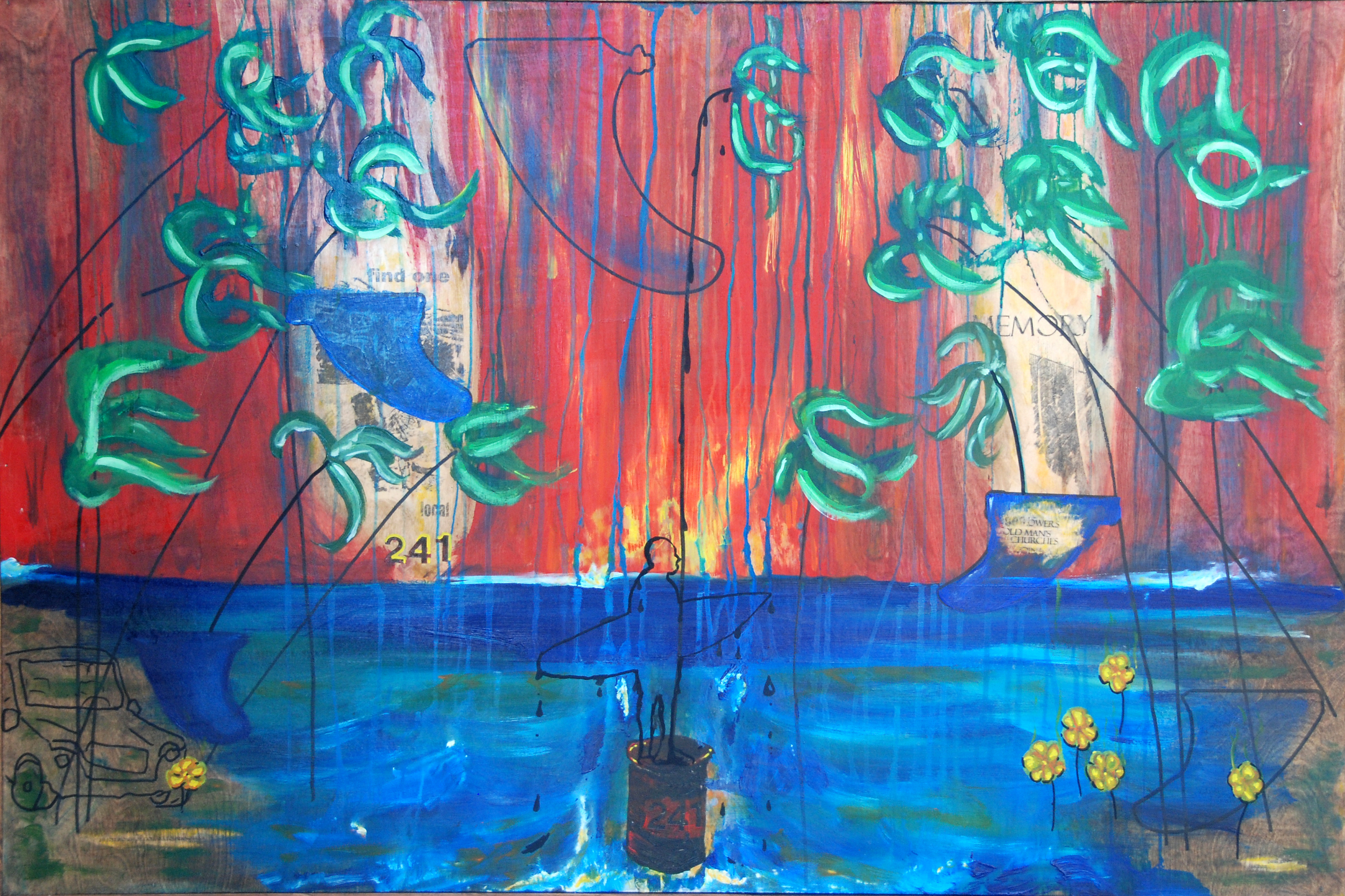 Find one Memory see imperfection - mixed media on wood panel.jpg
