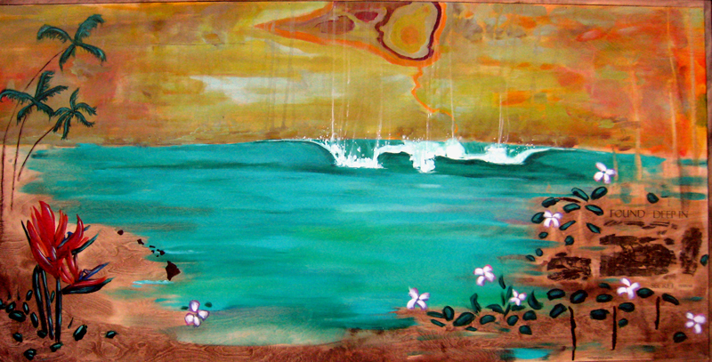 found deep in secret hawaii acrylic stain and toner transfer on panel 36 x 72 2006.jpg
