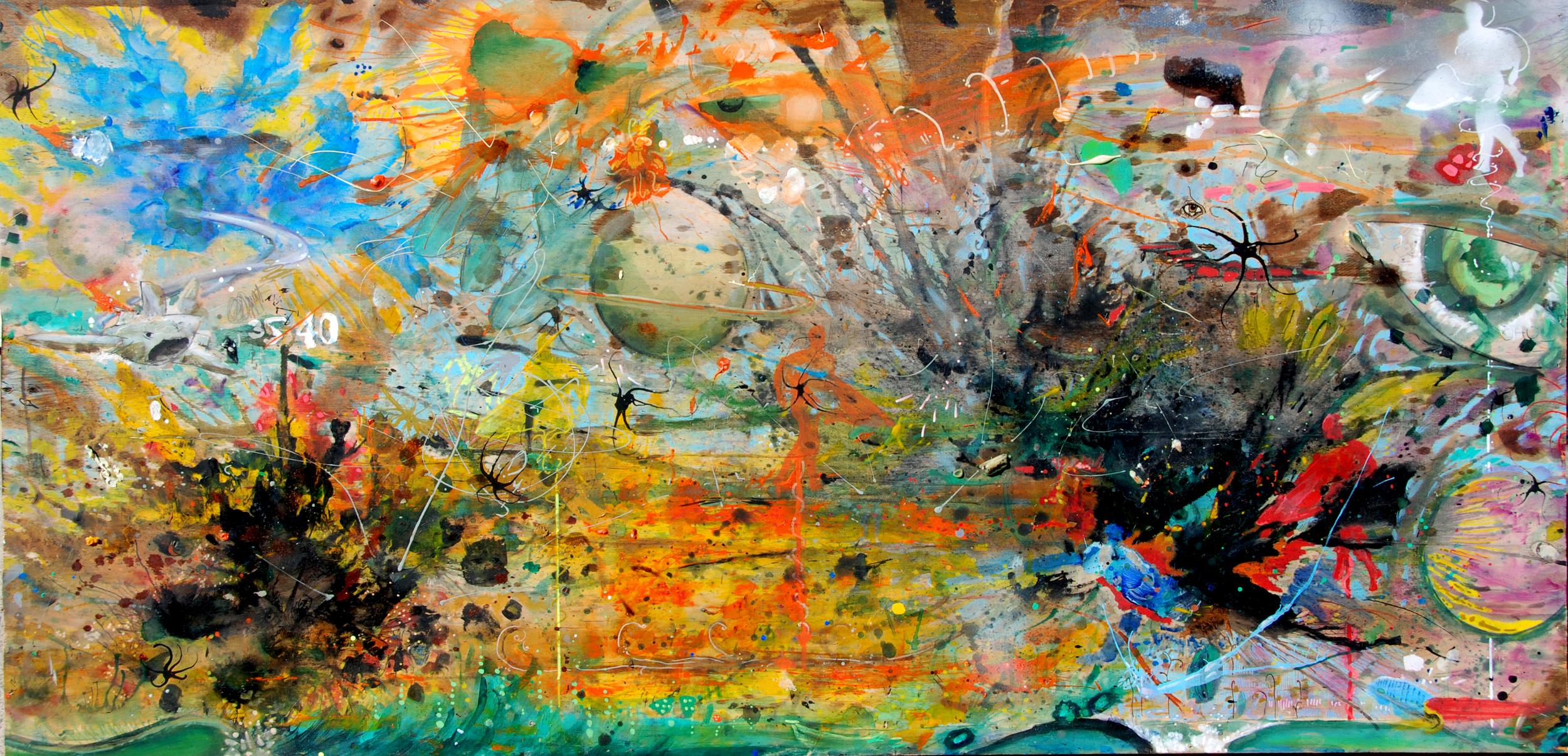 nathan gibbs-the escalation of committment-24x48-mixed media on panel.jpg