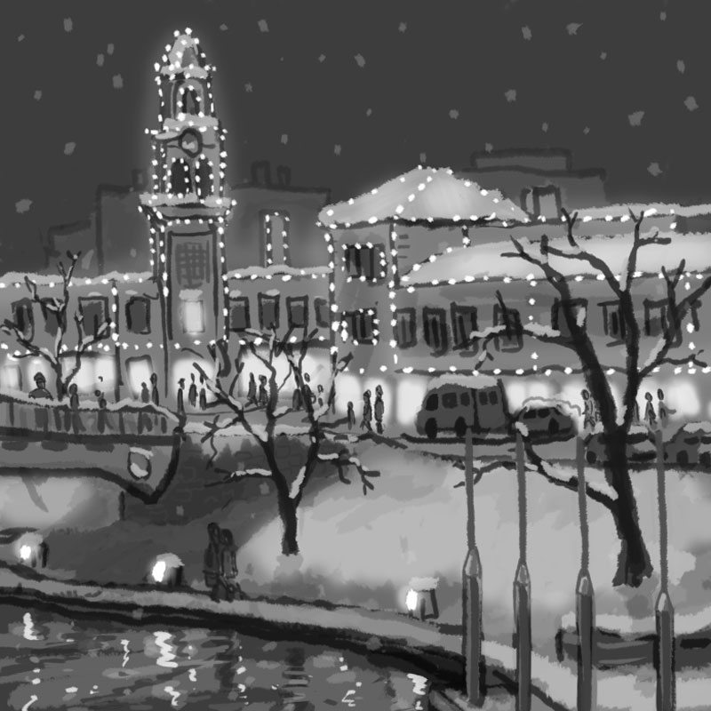 Plaza Lights rough idea sketch