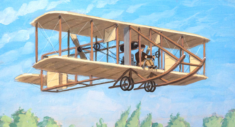 Albert flying a Wright Model B