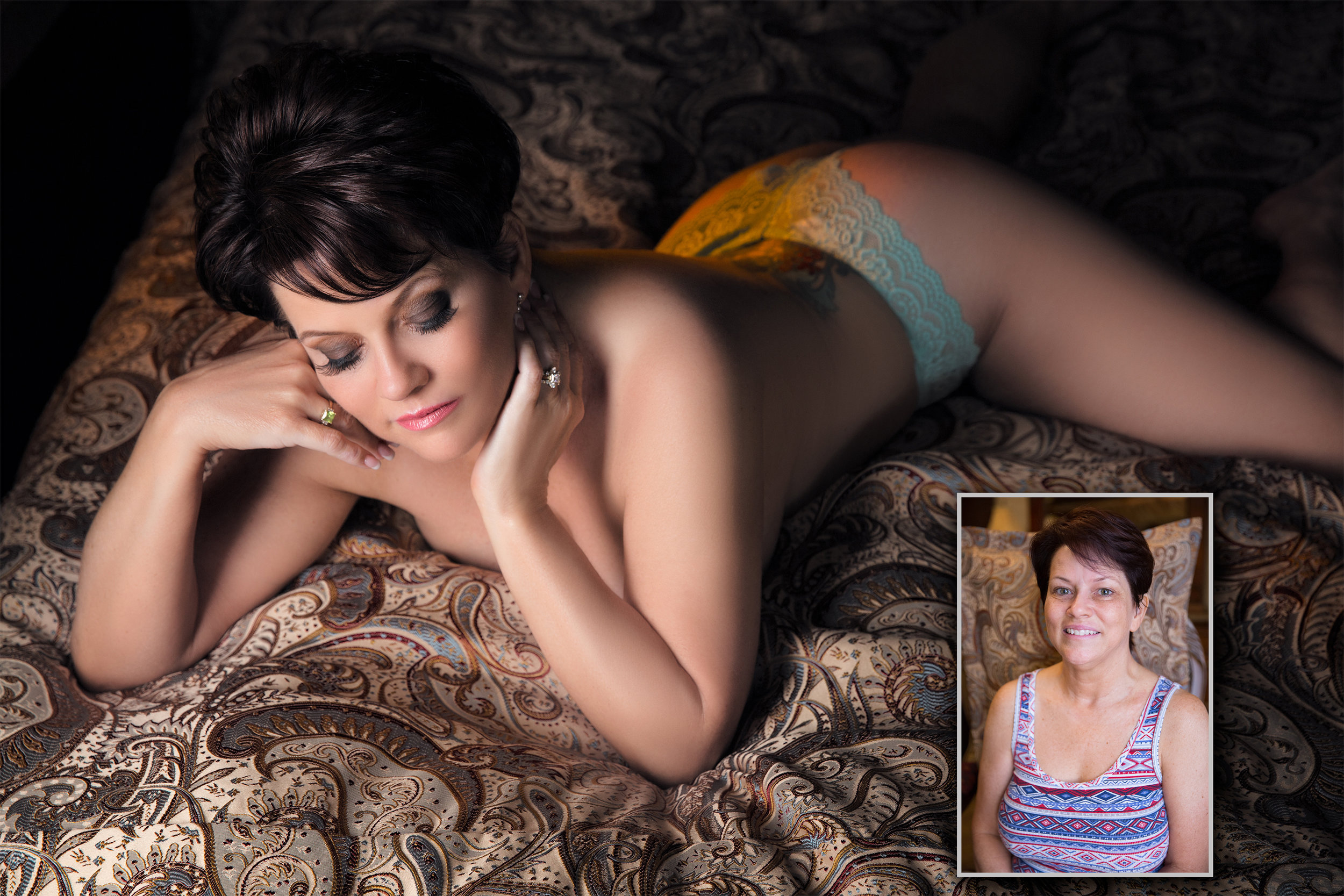 Boudoir Before & After of Michelle