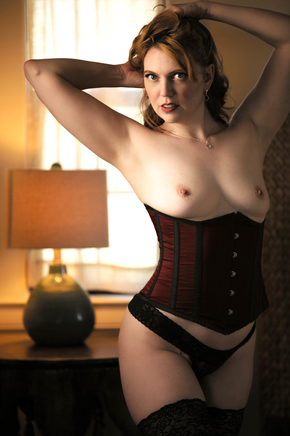 Mature wife large breasts wearing corset Boudoir Lingerie Ideas