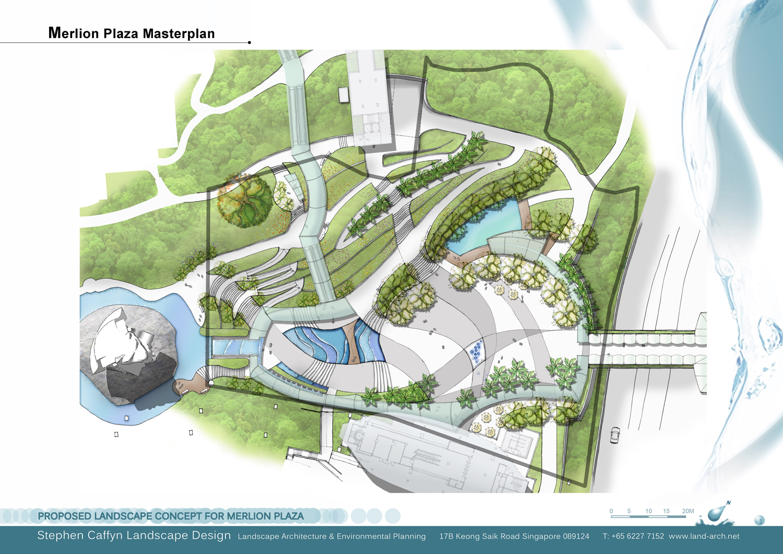 Merlion Plaza Masterplan, Sentosa