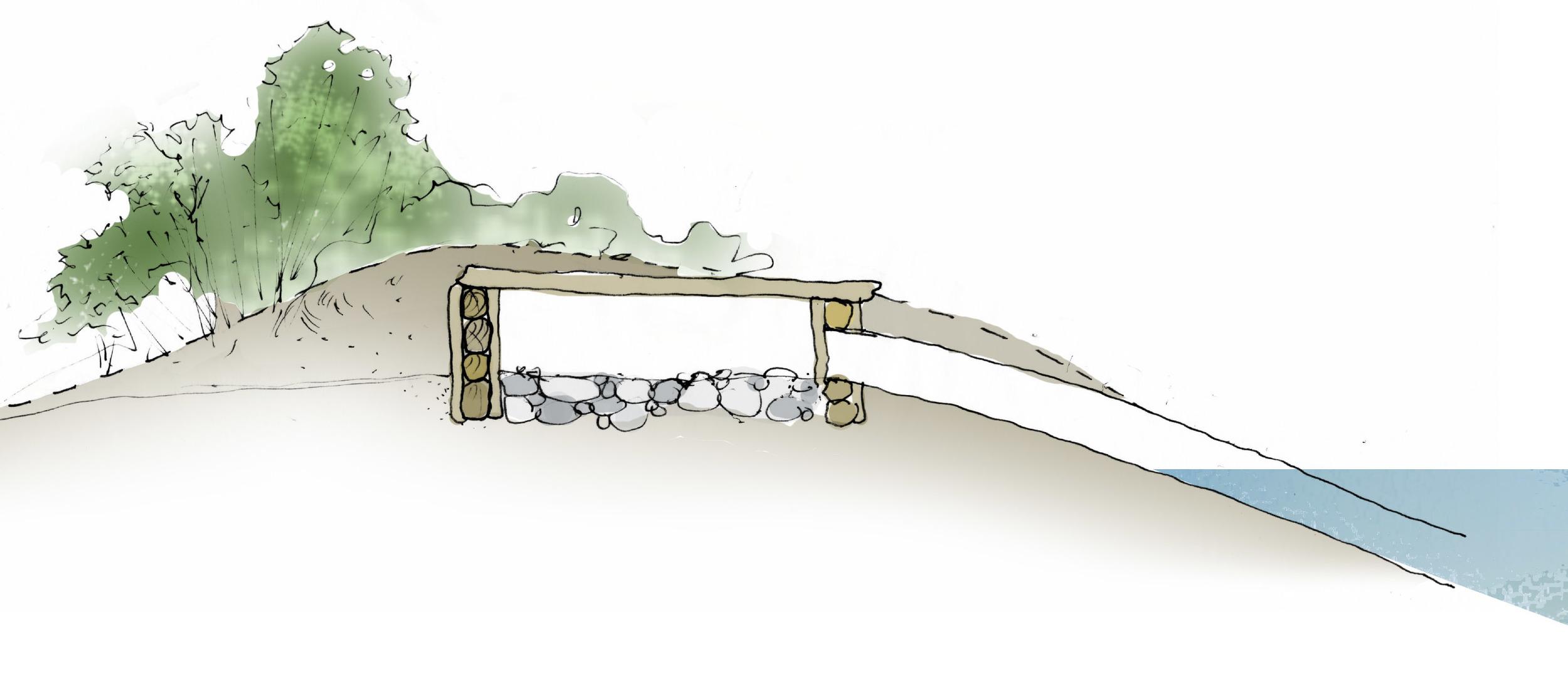 Otter Holt Sketch Section