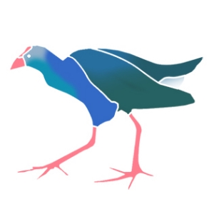 Purple Swamp Hen Logo