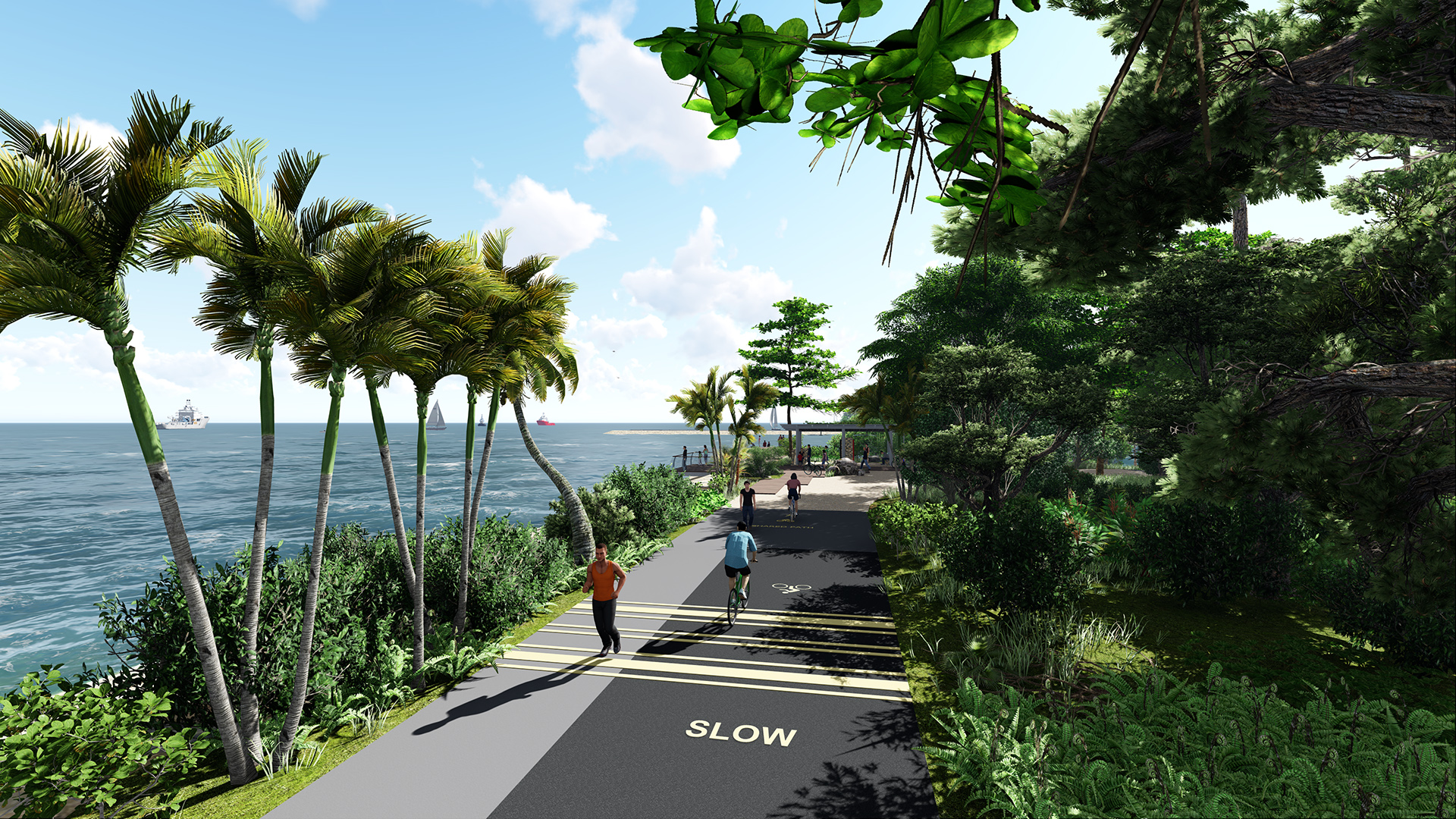 View of track near Changi Bay shelter on the Round Island Route Coastal Adventure by Stephen Caffyn Landscape Design