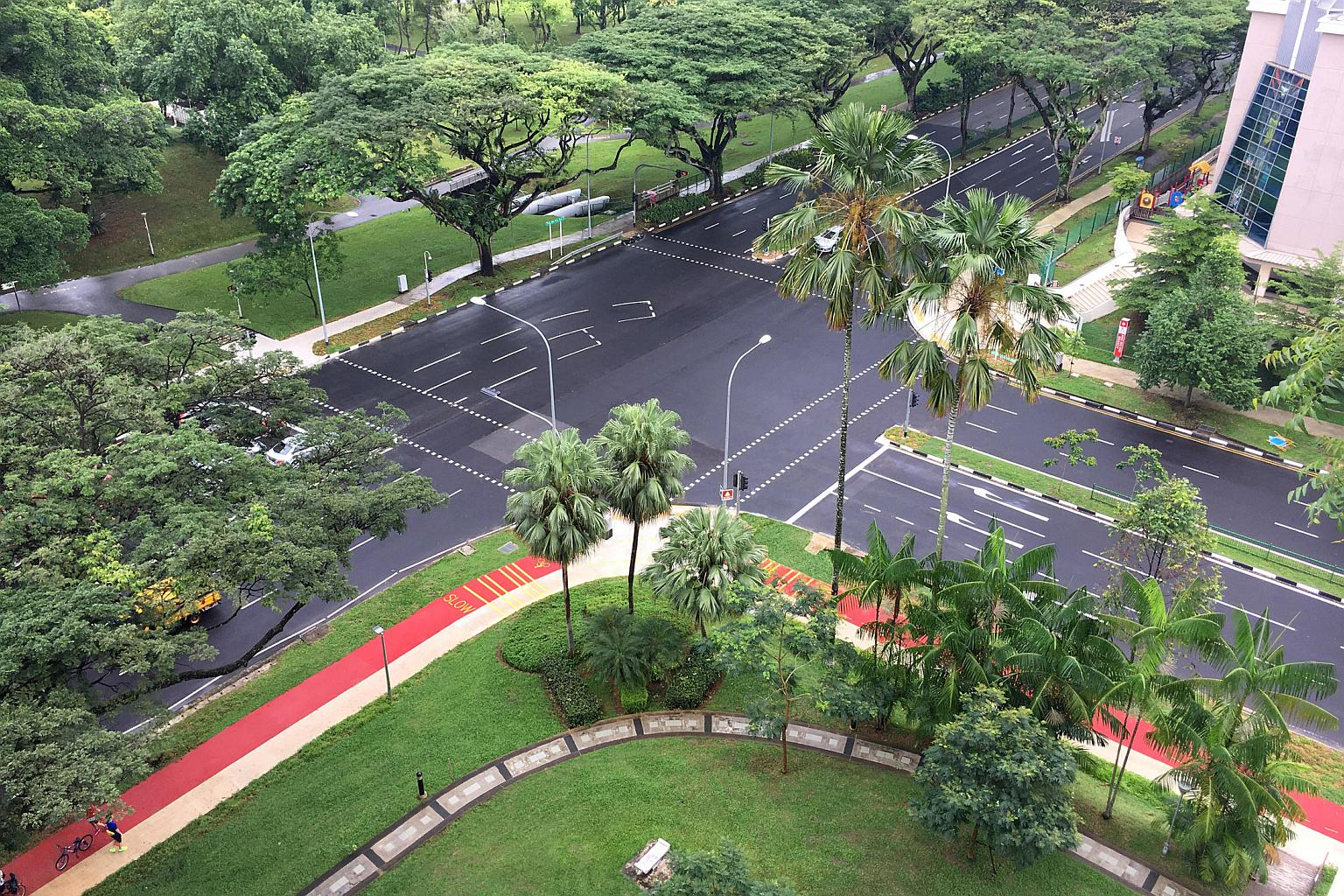 Completed Cycling Tracks at Ang Mo Kio