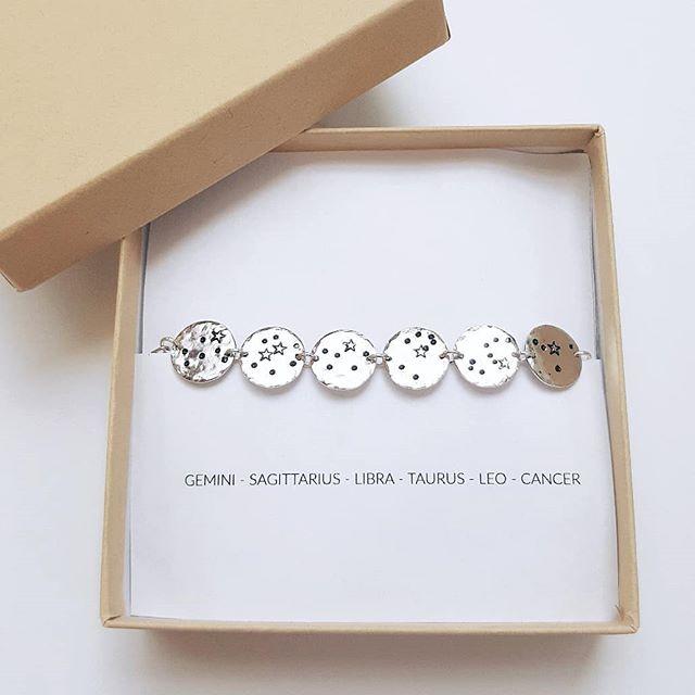 Personalized Zodiac Constellation Bracelet $19 +  #personalizedjewelry  #family #constellation #fathersdaygifts #handmade #etsygifts