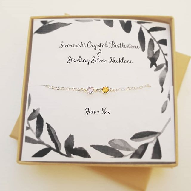NEW / Swarovski Crystal Birthstone Necklace  shopsimplychic.etsy.com  #personalizedgifts #etsygifts #etsy #made #friends #gift #swarovski #birthstone #madetoorder #jewelry