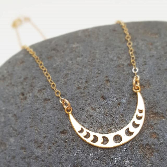 NEW / Moon Phase Necklace $29+ 14k gold filled or sterling silver  shopsimplychic.etsy.com  #moon #crescentmoon #etsy #madetoorder #jewelry #necklace #bohemian #etsygifts
