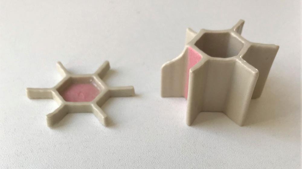 Spliced Hex - pink
