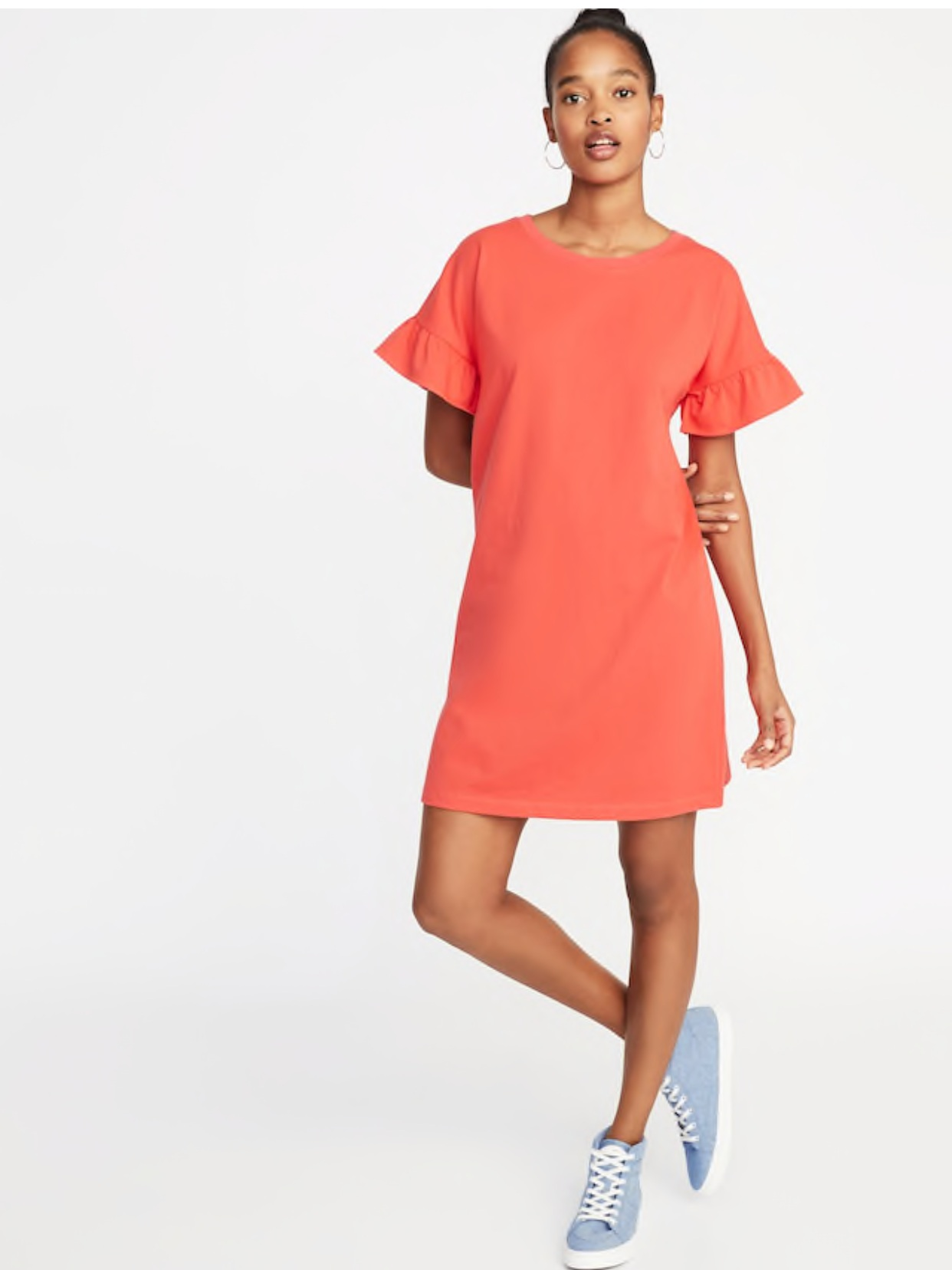 - I bought this dress this week in this coral color and I just ordered one in black. It's not to heavy or too light and is the perfect length. Wedding pros- this dress would be perfect for wedding days!It's on sale today too!Find it here.