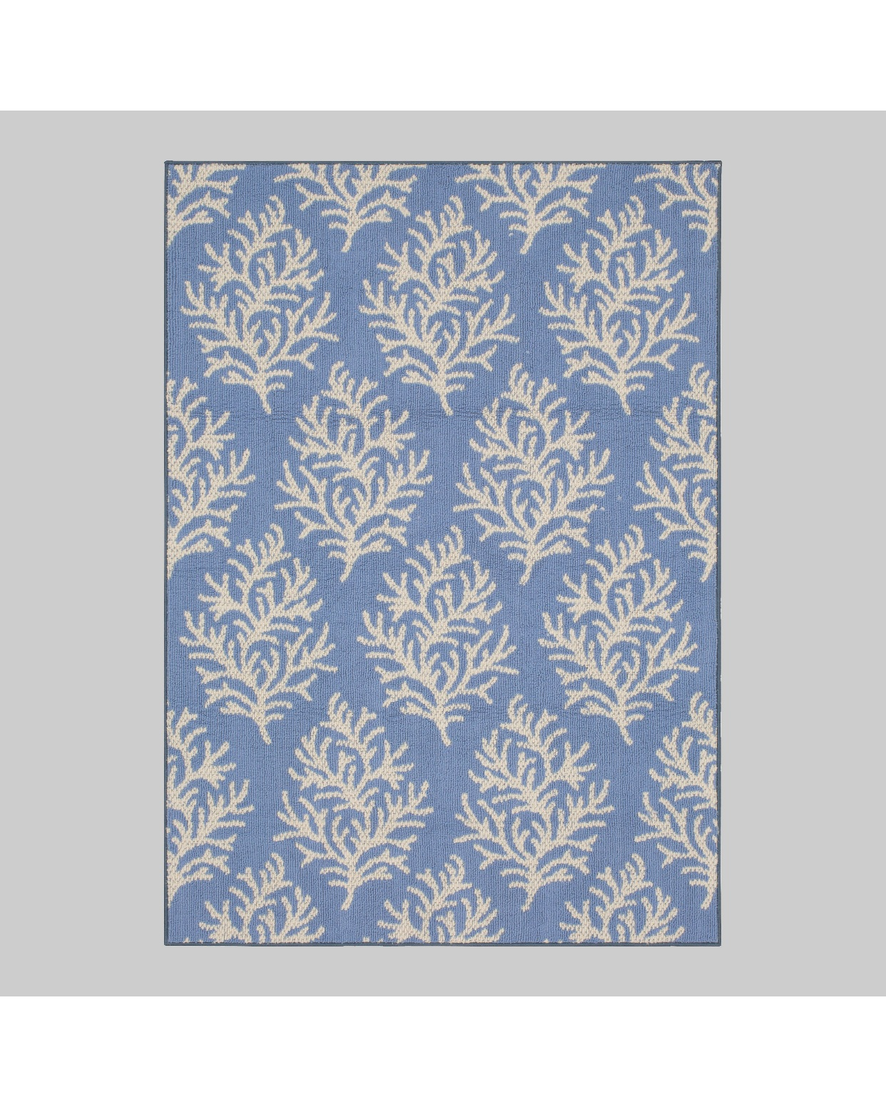 - We'll be getting our outside area ready for Spring and Summer here very soon and this rug is on my list of must haves for our deck. We had a Threshold outdoor rug ( A Target brand) last year and it held up to some crazy weather and direct sunlight. We'll be using it again this year because it's still in great shape! This blue coral one is so pretty though and I have the perfect spot!Find it here.