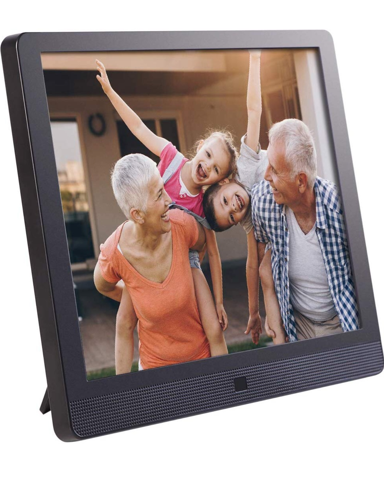- Ok, I'm pretty sure this is our family's favorite item perhaps of all time. Basically, it comes with a built in email address, you can email photos and videos up to 2 minutes long and they literally beam to the frame and pop up on the screen. It's amazing and so easy to set up and use. A Grandparents dream!Find it here.