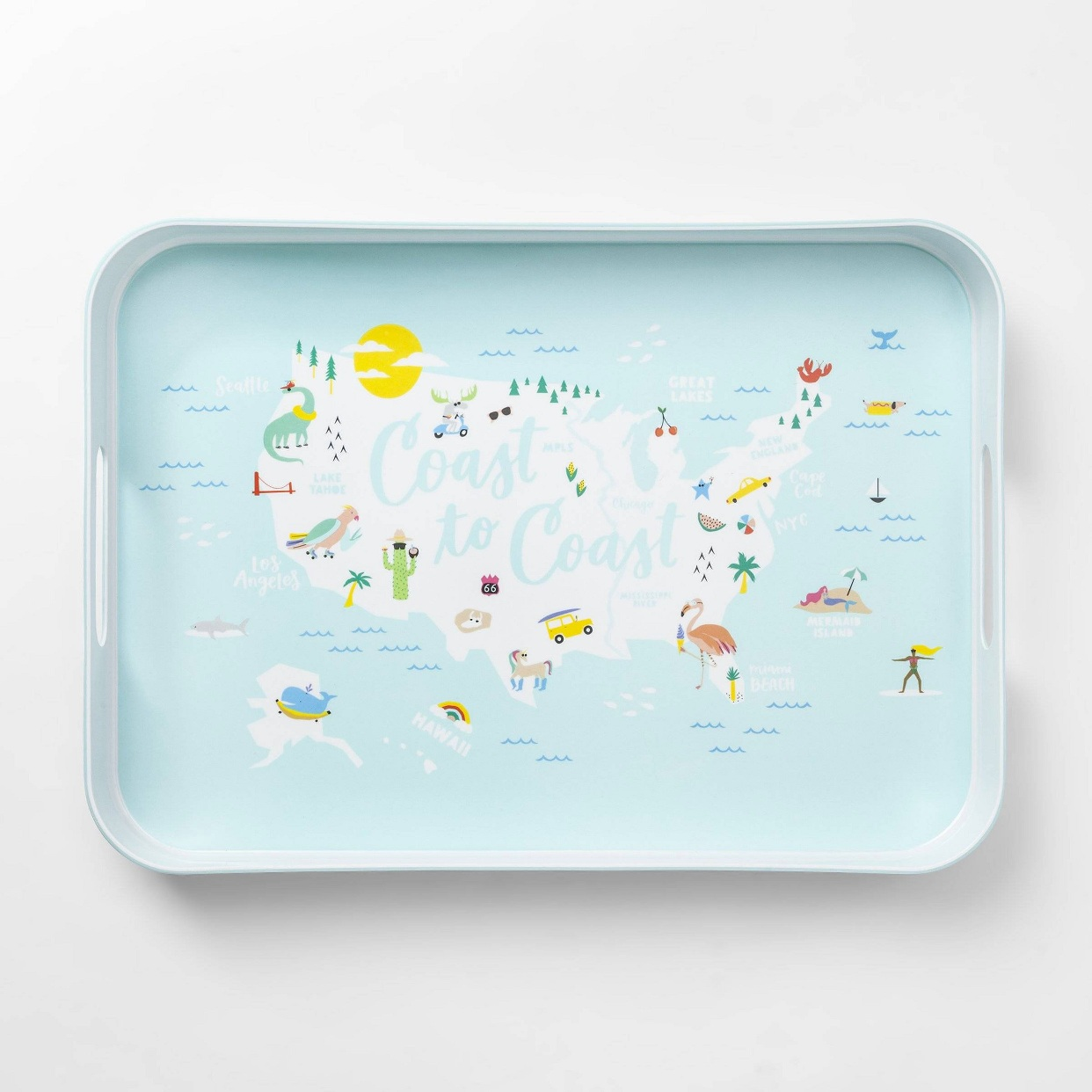 - An adorable tray for those summer cocktails or toddler snack for us moms haha.Find it here.