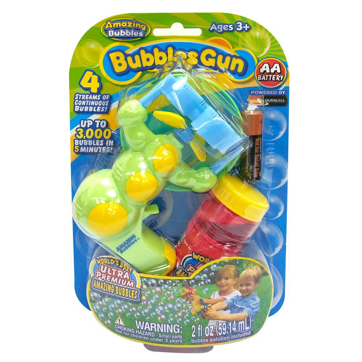 - OK! This bubble gun is $3 and produces enough bubbles for the whole neighborhood!Find it here.
