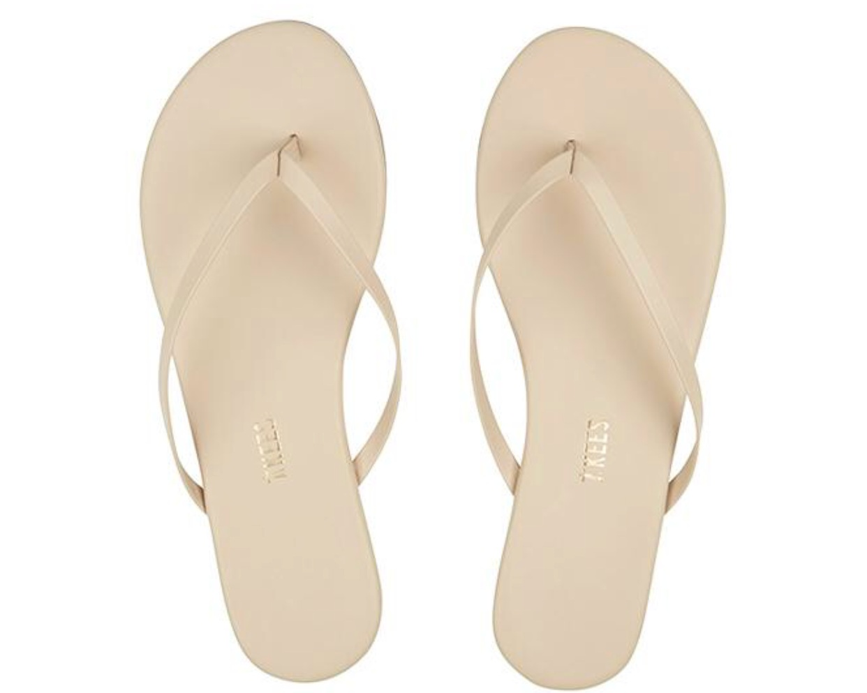- OKKKK! My new favorite flip flops. They come in any nude shade you can imagine and are so so comfy.Find them here.