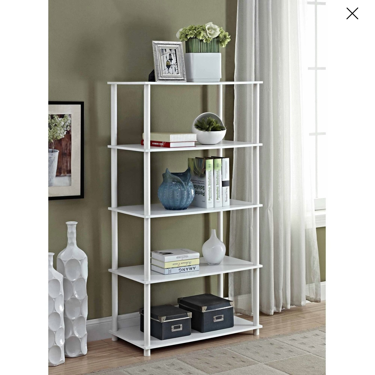 - These are our new shelving units for the studio! They will double as storage shelves and display shelves as they are Instagram friendly. YAY!Super sturdy and a great height.Find them here.