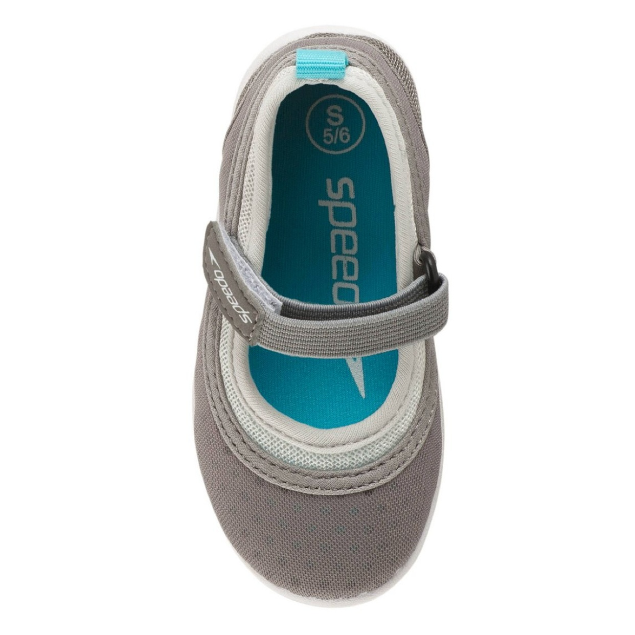 - These work so well for Ms. C! We go to the splash pad often and I love that these don't fall off! I don't have to worry about her little toes getting burned on the hot concrete or stepping on something sharp!Find them here.