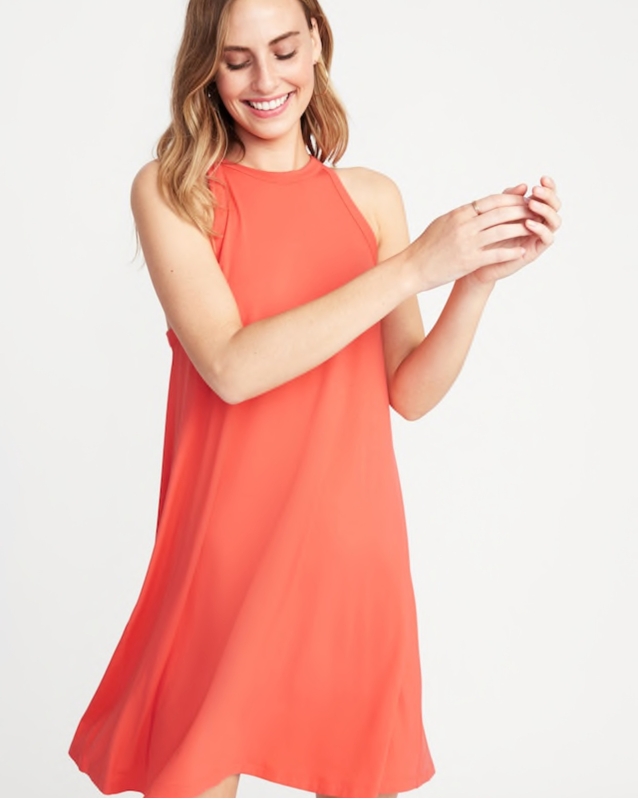 - Love the high neck on this dress! So cute for summer date nights!Find it here.