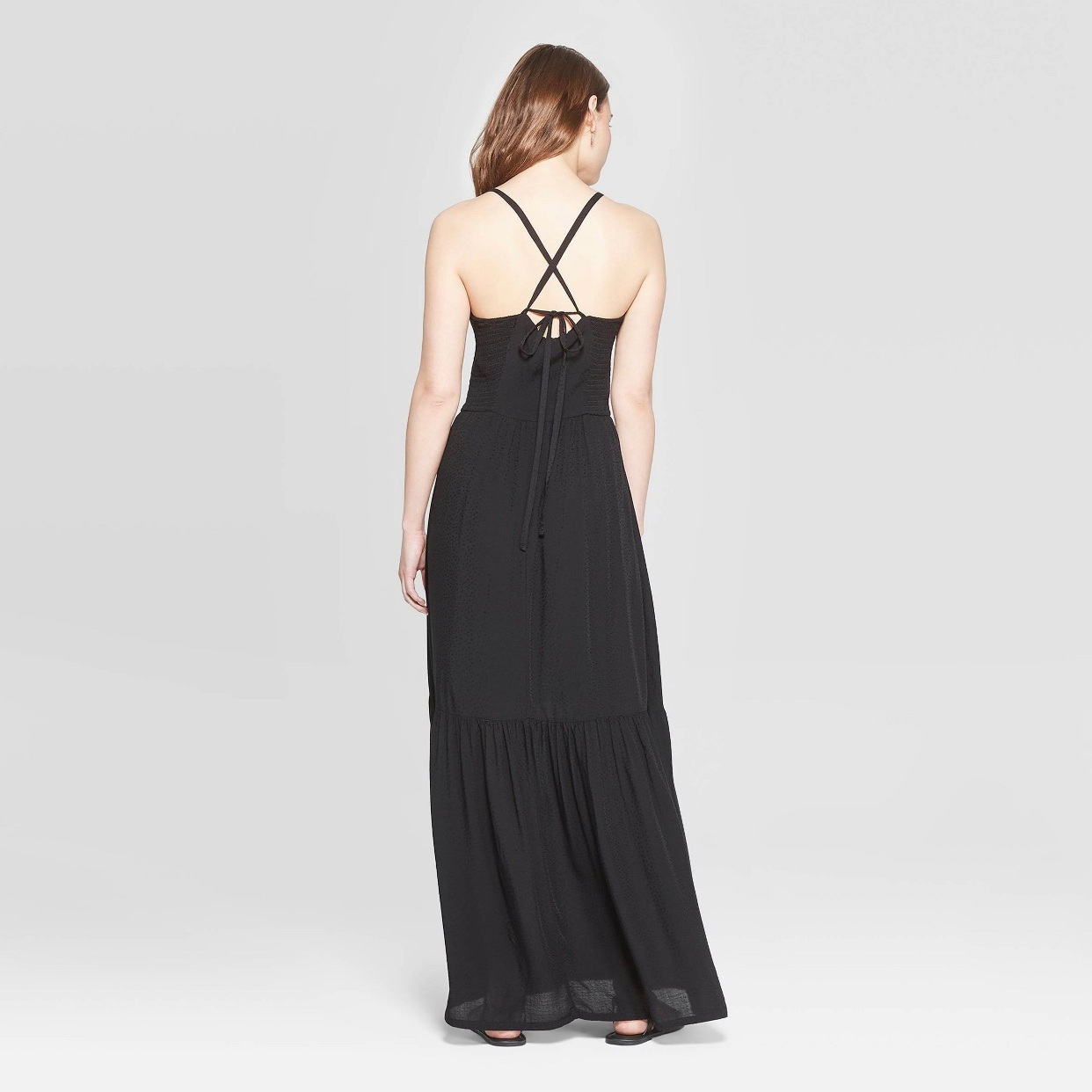 - You can always count on my for a black maxi dress on FF! Love the straps on this one!Find it here.