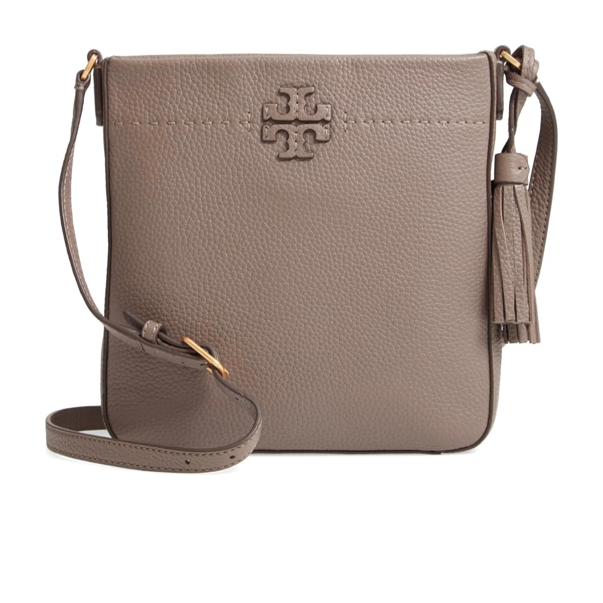 - This is my new favorite thing. I've had my eye on this bag since I saw someone wearing it in Target. It's a great size. Not overly big, but not too small. The color goes with almost everything and the crossbody style is a life saver for me with the kiddos.Find it here.