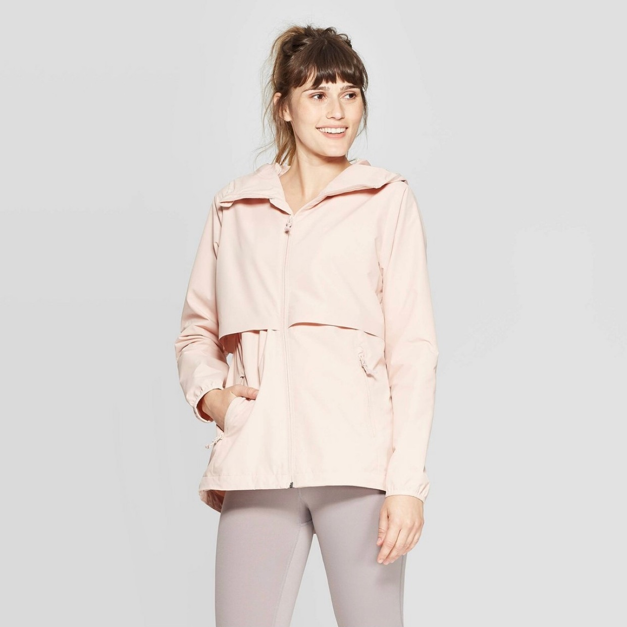 - I'm hurricane season ready with this baby! The blush color pulled me in, but it's a great quality jacket!Find it here.