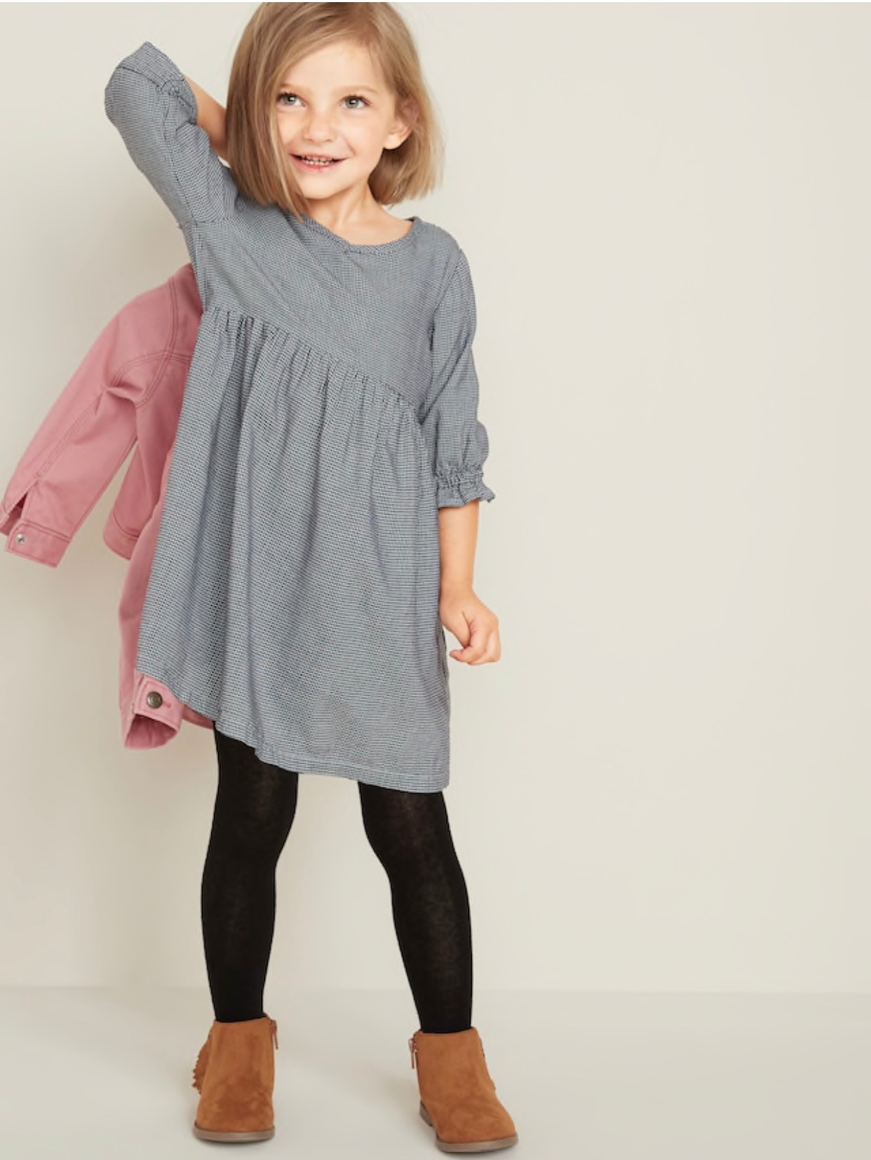 - Love this houndstooth dress for Caroline for back to school!Find it here.