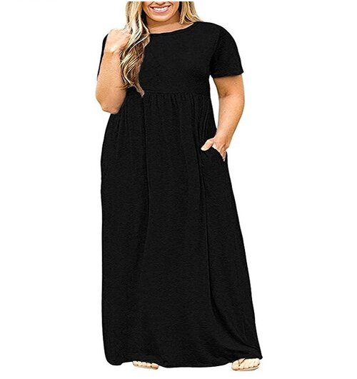 - I'm wearing this today and I think it will become one of my favorite maxis! Really liking the slightly longer sleeves! And pockets, duh!Find it here.
