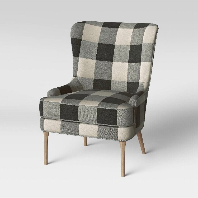 - Love how different yet still neutral this chair is!Find it here.