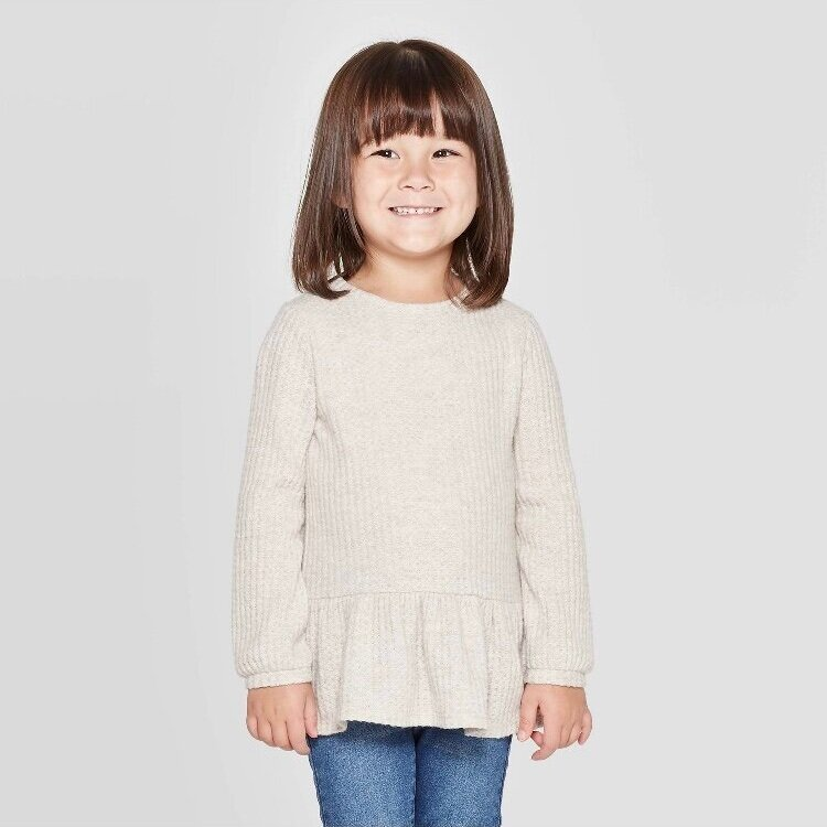 - Super comfy shirt, perfect for fall. Staple in every little girls closet.Find it here.