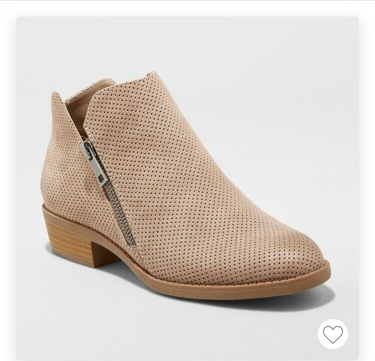 - Super cute light weight ankle booties, Perfect for fall! Can go with every outfit.Find it here