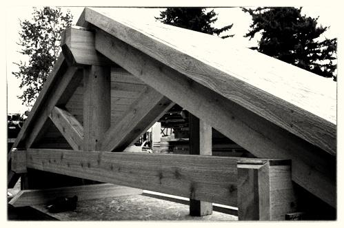 Custom Cedar Gable Built Off Site - Willamette Park