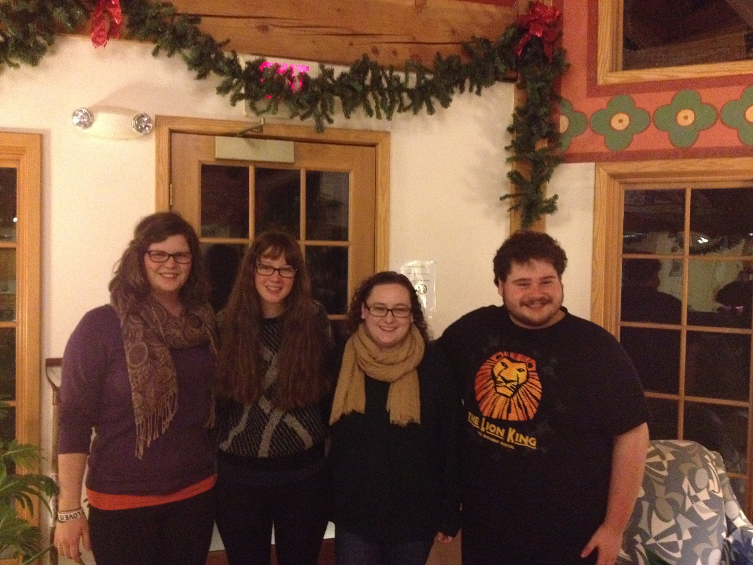 The blogging team: Abi, Portia, Jessica, and Matt