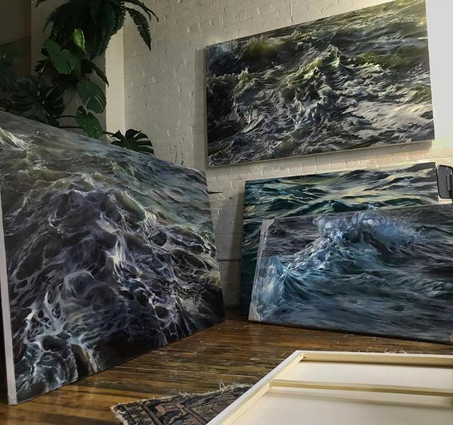 I think we're gonna need a bigger boat... . . . . . #JAWS #oilpainting #oceanpainting #oceanart #seascape #waveart #sea #ocean #instaart #painting #oiloncanvas #art #water #oilpainting #waves #rhodeisland #artistsoninstagram