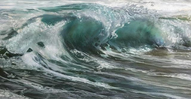 Phoebe Season is here ...!! FINALLY! I've been a raccoon 🦝 for the past 8 months. 10x20 oil on canvas. Available. . . . . . . . . . . #oilpainting #oceanpainting #oceanart #seascape #waveart #sea #ocean #instaart #painting #realism #oiloncanvas #art #water #wave #painting #beach