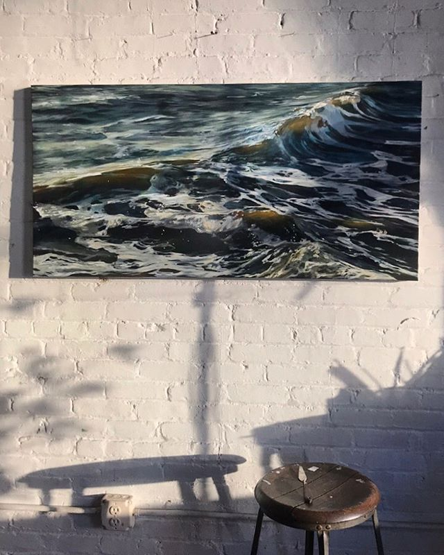 Good Morning :) . . . #oilpainting #oceanpainting #oceanart #seascape #waveart #sea #ocean #instaart #painting #realism #oiloncanvas #art #water #wave #painting #beach