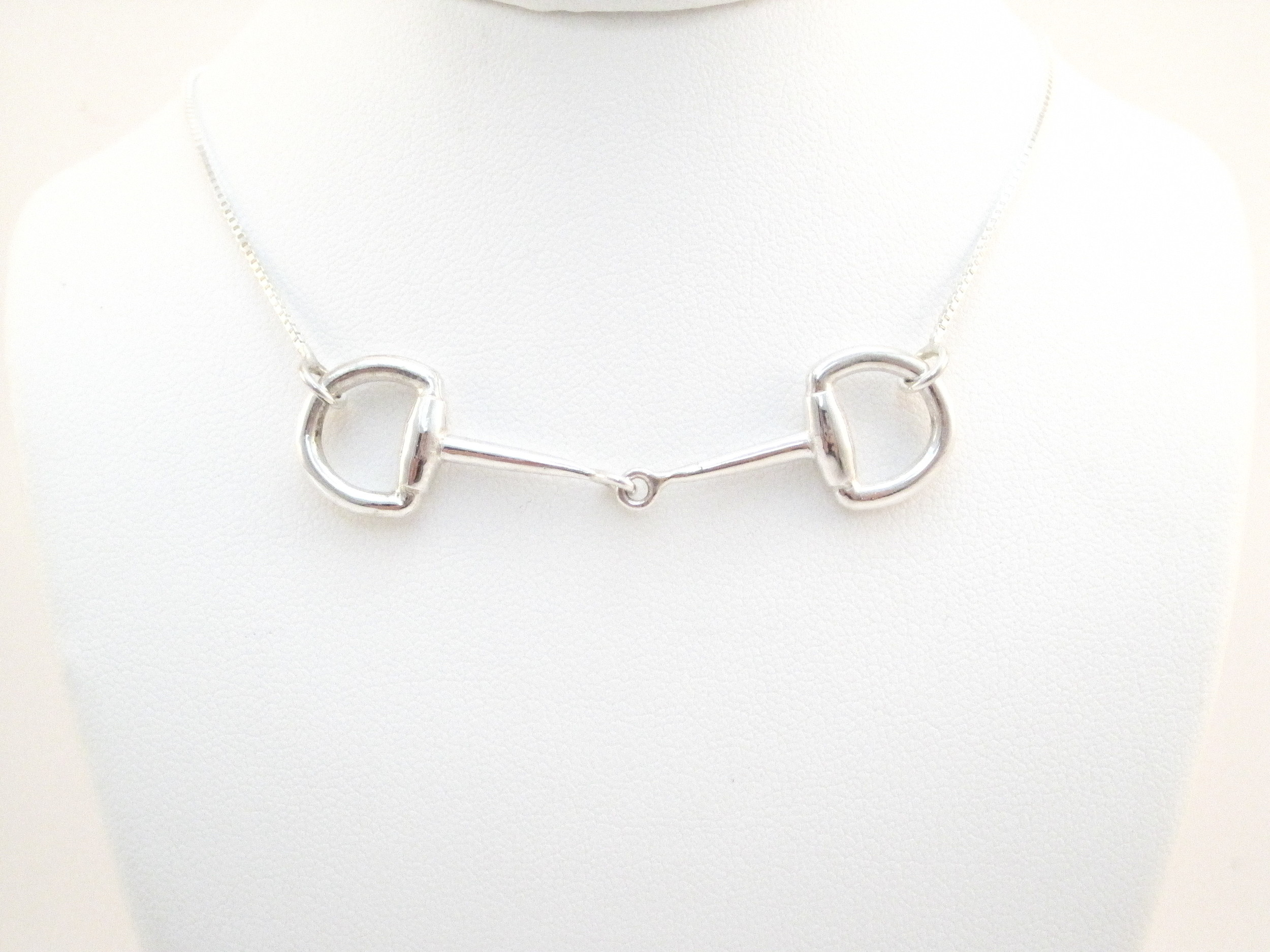 Snaffle Bit Necklace- Sterling Silver